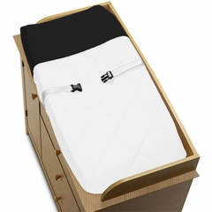 Black and White Modern Hotel Changing Pad Cover by Sweet Jojo Designs