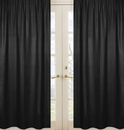Black Window Panels Curtains for Chevron Black and White Collection