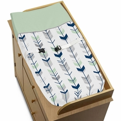 Boho Arrow Navy and Mint Changing Pad Cover