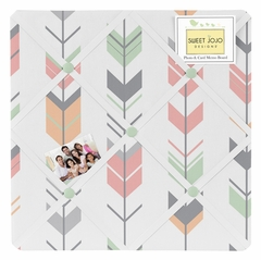 Boho Girls Arrow Coral and Mint Memo Board