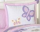 Butterfly Pink and Purple Pillow Sham by Sweet Jojo Designs