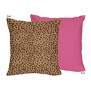 Cheetah Print Pink Decorative Accent Throw Pillow