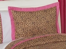 Cheetah Print Pink Pillow Sham by Sweet Jojo Designs