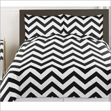 Chevron Black and White 3pc Teen or Kids King Bedding Set