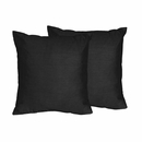 Chevron Collection Solid Black Accent Throw Pillow Set