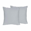 Chevron Collection Solid Gray Accent Throw Pillow Set