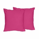 Chevron Collection Solid Pink Accent Throw Pillow Set