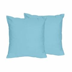 Chevron Collection Solid Turquoise Accent Throw Pillow Set