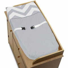 Chevron Gray and White Changing Pad Cover by Sweet Jojo Designs