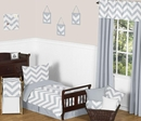 Chevron Gray and White Toddler Bedding Set by Sweet Jojo Designs