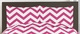 Chevron Hot Pink and White 3pc Teen or Kids King Bedding Set
