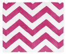 Chevron Hot Pink and White Accent Floor Rug