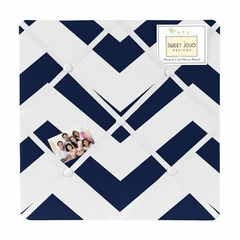 Chevron Navy and White Fabric Memo Board by Sweet Jojo Designs