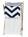 Chevron Navy and White Hamper by Sweet Jojo Designs
