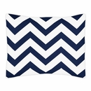 Chevron Navy and White Pillow Sham by Sweet Jojo Designs