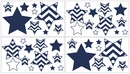 Chevron Navy and White Wall Decals by Sweet Jojo Designs