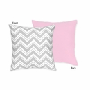 Chevron Pink and Gray Decorative Accent Throw Pillow