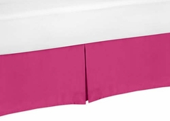 Chevron Pink and White Collection Queen Bed Skirt Solid Pink