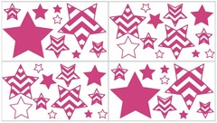 Chevron Pink and White Wall Decals by Sweet Jojo Designs