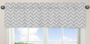 Chevron Pink, Gray and White Collection Window Valance