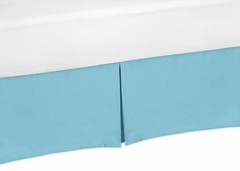 Chevron Turquoise and White Collection Toddler Bed Skirt