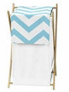 Chevron Turquoise and White Hamper by Sweet Jojo Designs