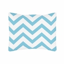 Chevron Turquoise and White Pillow Sham by Sweet Jojo Designs