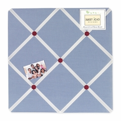 Come Sail Away Collection Blue Fabric Memo Board