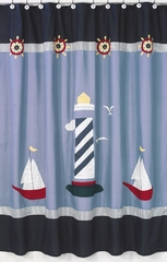 Come Sail Away Nautical Lighthouse Shower Curtain Sweet Jojo Designs