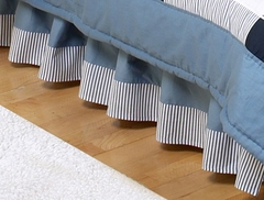 Come Sail Away Nautical Toddler Bed Skirt by Sweet Jojo Designs