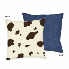 Cowgirl Cow Print Decorative Accent Throw Pillow