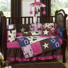 Cowgirl Western Baby Bedding - 9 Piece Crib Set