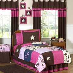 Cowgirl Western - Kids Bedding 4 Piece Twin Set