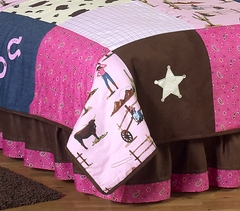 Cowgirl Western Queen Bed Skirt by Sweet Jojo Designs