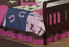 Cowgirl Western Toddler Bed Skirt by Sweet Jojo Designs