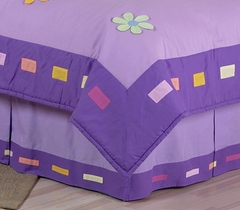 Daisy Flower Queen Bed Skirt by Sweet Jojo Designs