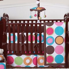 Deco Dot Polka Dot Baby Bedding - 9 Piece Crib Set