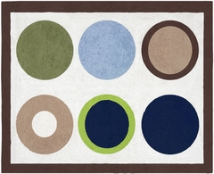 Designer Dot Large Polka Dot Accent Floor Rug