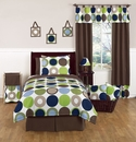 Designer Dot Large Polka Dot Bedding - 3 Pc Full/Queen Bedding Set