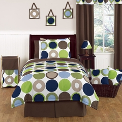 Designer Dot Large Polka Dot Bedding - Kids Twin Bedding 4 Pc Set