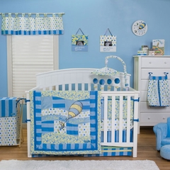 Dr. Seuss Oh! The Places You'll Go Blue 3pc Baby Crib Bedding Set