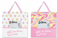 Dr. Seuss Oh! The Places You'll Go Pink 2 pc Frame Set by Trend Lab