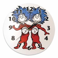 Dr. Seuss Thing 1 and Thing 2 Wall Clock
