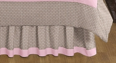 Elephant Pink Collection Queen Bed Skirt by Sweet Jojo Designs