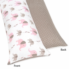Elephant Pink Full Length Body Pillow Cover by Sweet Jojo Designs
