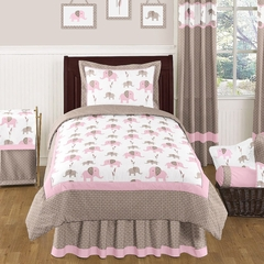 Elephant Pink Mod - 4 Pc Twin Bedding Set