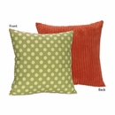 Forest Friends Collection Green and Orange Accent Throw Pillow