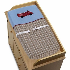 Frankie's Fire Truck Changing Pad Cover By Sweet Jojo Designs