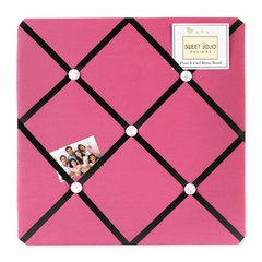 Girl's Pink Soccer Collection Pink and Black Fabric Memo Board