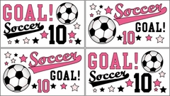 Girl's Pink Soccer Pink Wall Decals by Sweet Jojo Designs